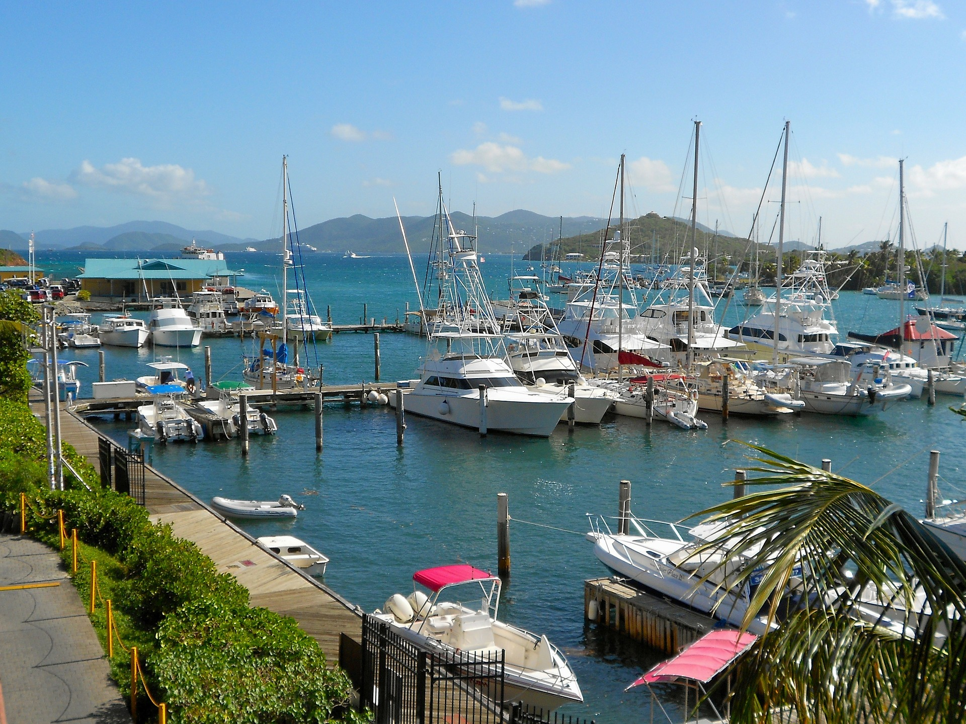 Boats in Marina - Caribbean