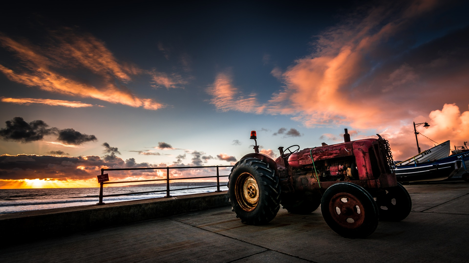 Tractor Parked at the Beach